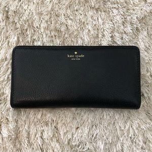 Large Kate Spade Black Wallet
